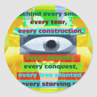 Every tree planted and every starving child classic round sticker