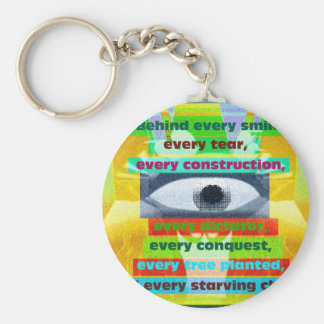 Every tree planted and every starving child keychain