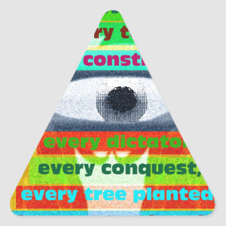 Every tree planted and every starving child triangle sticker