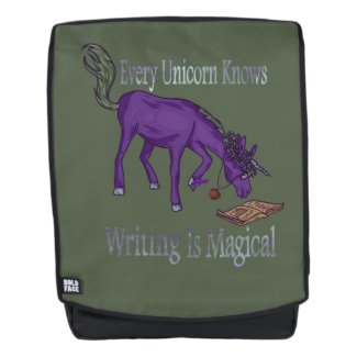 Every Unicorn Knows Writing Is Magical Backpack