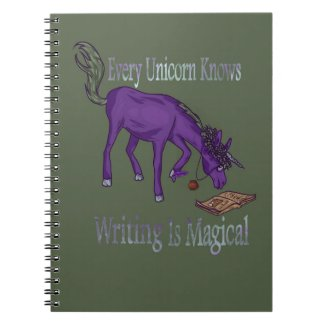 Every Unicorn Knows Writing Is Magical Notebook