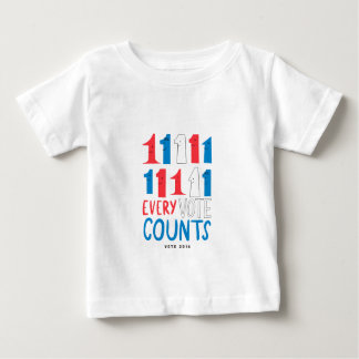 Every Vote Counts Baby T-Shirt