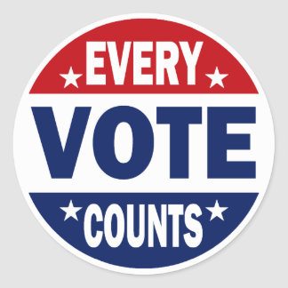 Every Vote Counts Classic Round Sticker