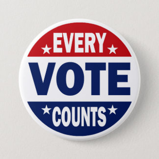 Every Vote Counts Pinback Button