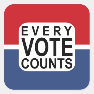 Every Vote Counts sticker