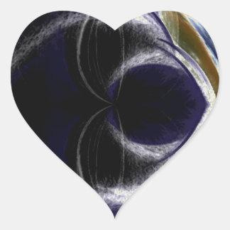 every where its night heart sticker