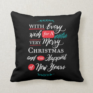 Every wish Holiday Pillow