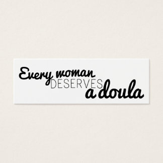 Every woman deserves a doula - business cards