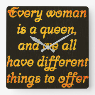 every woman is a queen amazing clock