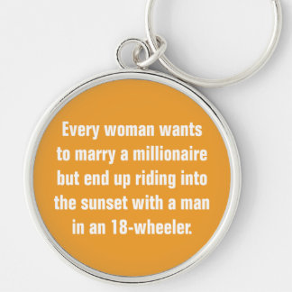 Every Woman Wants To Marry A Millionaire … Keychain