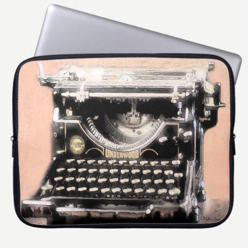 Every Writer Loves an Underwood Typewriter Laptop Sleeve