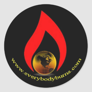 Everybody Burns Earth Logo Classic Round Sticker