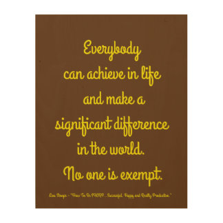 """Everybody can achieve 11""""x14"""" Wood Wall Art"""