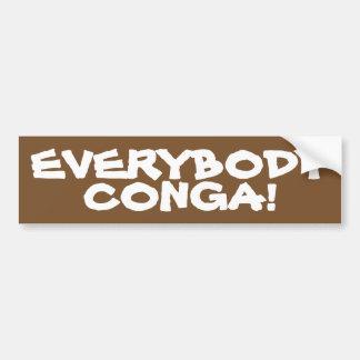 Everybody Conga Bumper Sticker