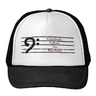 Everybody Follows the Bass Player Mesh Hats
