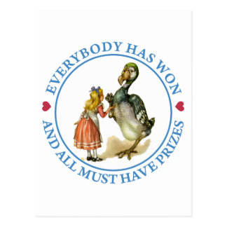 Everybody has won and all must have prizes! postcard