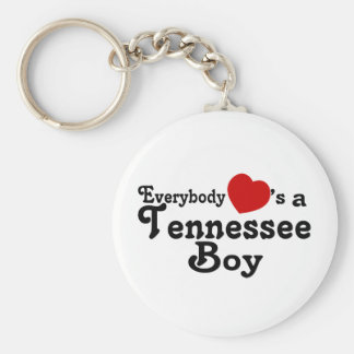 Everybody Hearts a Tennessee Boy Basic Round Button Keychain