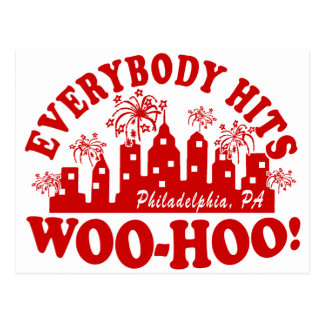 Everybody Hits Phillies Classic Postcard