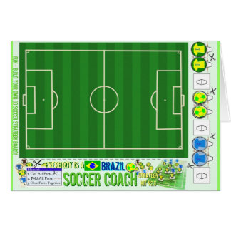 Everybody is a Brazil Soccer Coach Strategy Kit Card