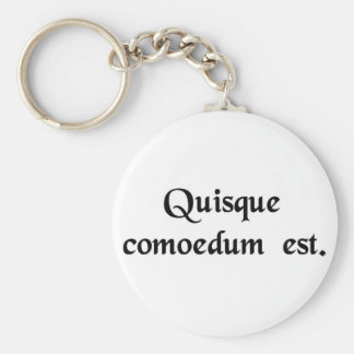 Everybody is a comedian. keychain