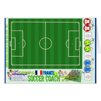 Everybody is a Soccer Coach Strategy Board France Cards