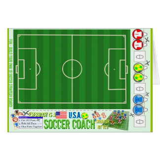 Everybody is a USA Soccer Coach Strategy Kit Greeting Card