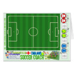 Everybody is an England Soccer Coach Strategy Kit Greeting Cards