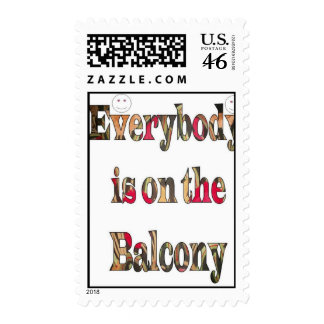 Everybody is on the balcony Postage stamp