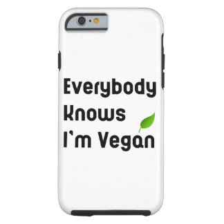 Everybody knows I'm vegan iPhone Case