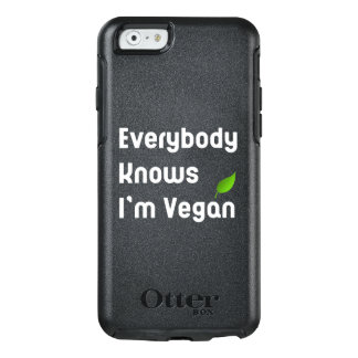 Everybody knows I'm vegan iPhone Otter Case