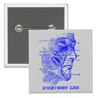 Everybody Lies 2 Inch Square Button