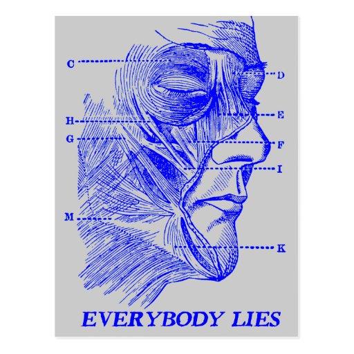 Everybody Lies Postcard