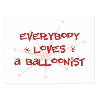 Everybody Loves A Balloonist Postcard