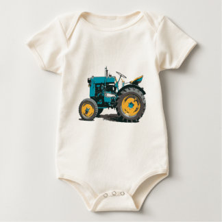Everybody loves a big old tractor! baby bodysuit