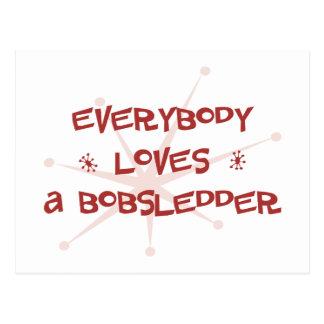Everybody Loves A Bobsledder Postcard