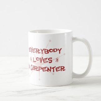 Everybody Loves A Carpenter Coffee Mugs