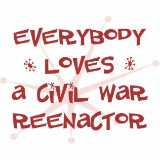 Everybody Loves A Civil War Reenactor Photo Sculpture Ornament