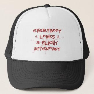 Everybody Loves A Flight Attendant Trucker Hat