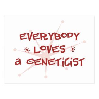 Everybody Loves A Geneticist Postcard