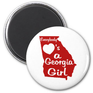 Everybody Loves a Georgia Girl 2 Inch Round Magnet