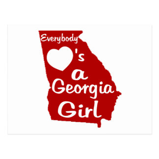 Everybody Loves a Georgia Girl Postcard