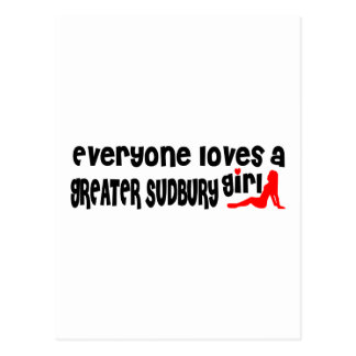 Everybody loves a Greater Sudbury Girl Postcard