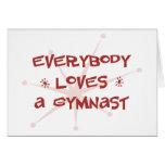 Everybody Loves A Gymnast Card