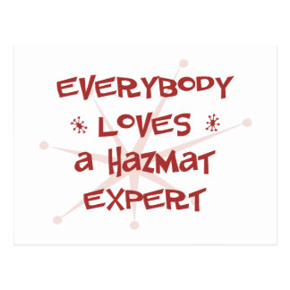 Everybody Loves A Hazmat Expert Postcard