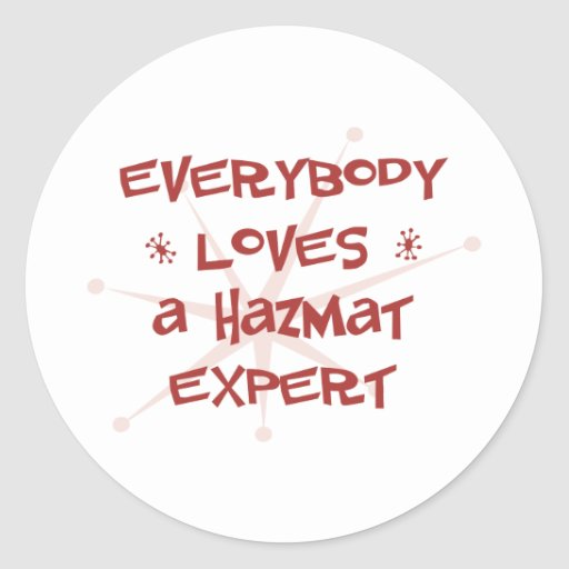 Everybody Loves A Hazmat Expert Classic Round Sticker