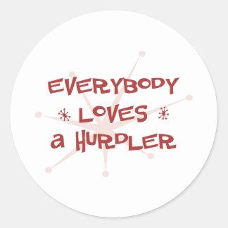 Everybody Loves A Hurdler Sticker