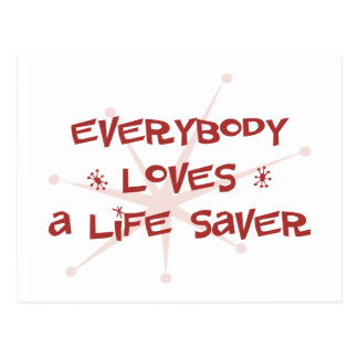 Everybody Loves A Life Saver Postcard