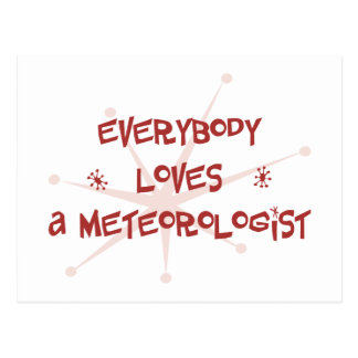 Everybody Loves A Meteorologist Postcard