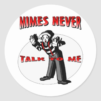 Everybody Loves A Mime Classic Round Sticker