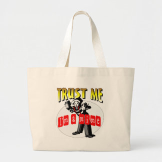Everybody Loves A Mime Large Tote Bag